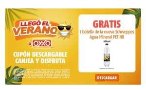 Oxxo: Gratis 1 botella de la nueva Schweppes Agua Mineral PET NR de 600 ml