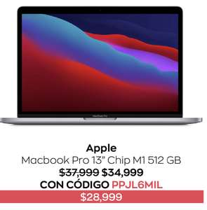 """Costco: Apple Macbook Pro 13"""" Chip M1 512GB + hasta 18 MSI"""
