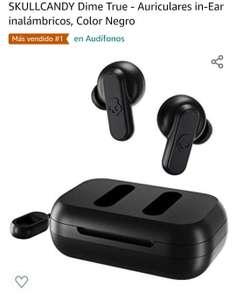 Amazon: SKULLCANDY Dime True - Auriculares in-Ear inalámbricos, Color Negro