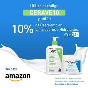 Amazon: Descuento de 10% en productos CeraVe