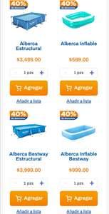 Chedraui: 40% de descuento en Albercas marca Bestway seleccionadas