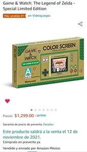 AMAZON: Preventa Game and Watch Zelda