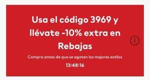 H&M: Descuento 10% sobre rebajas