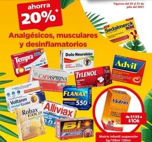 Farmacias San Pablo: 20% de descuento en analgésicos, musculares y desinflamatorios