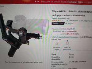 Amazon: Estabilizador Zhiyun WEEBILL- S