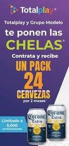 TotalPlay y Cervezasiempre.com dan 2 meses de cerveza gratis sólo Neza y Ecatepec aplica T y C