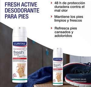 Amazon: Curitas Fresh Active 2 En 1 Desodorante Spray Para Pies Con Octenidina