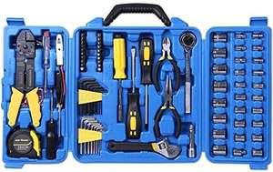 Amazon: Cartman Juego de herramientas de 122 piezas, juego de herramientas eléctricas, juego de llaves de vaso