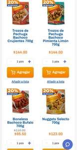 Chedraui: 20% de descuento en Boneless, Nuggets, Tiras o Trozos Bachoco 700g, a partir de 2 bolsas