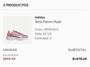 El Palacio de Hierro: Tenis Adidas Falcon Dama #22.5