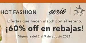 Aerie Hot Fashion: Hasta 60% de Descuento