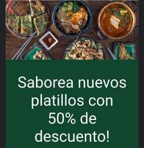 Uber Eats: 50% de descuento (aplica TyC)