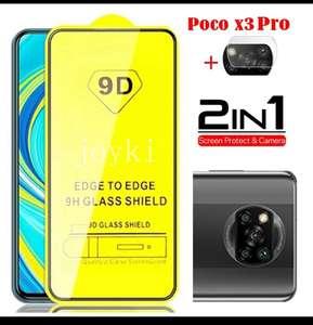 Shoppee: 2 en 1 Glass Film + lens Varios modelos XIAOMI