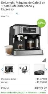Costco, De'Longhi, Máquina de Café 2 en 1 para Café Americano y Espresso