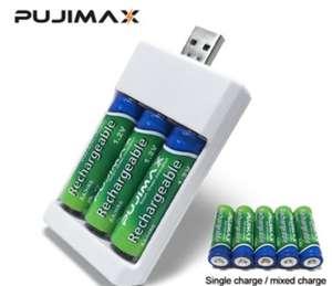 Aliexpress: Cargador de Baterías Recargables AA/AAA Universales