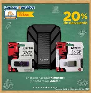 Chedraui: 20% de descuento en Memorias USB Kingston y Discos Duros ADATA 1, 2 y 4 TB