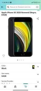 Amazon: iPhone SE Reacondicionado