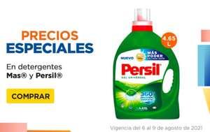 Chedraui: Detergentes Líquidos Mas 4.65 L $129... Detergentes en Polvo Persil 4.5 kg. $119... Detergentes Líquidos Persil 4.65 L $139