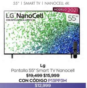 "Costco LG Pantalla 55"" Nanocell 4K UHD SMART TV (2021) + hasta 18 MSI"