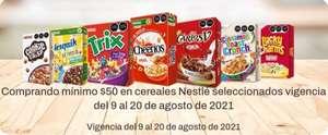 Chedraui: Envío gratis de tu súper en la compra mínima de $50 en cereales Nestlé seleccionados