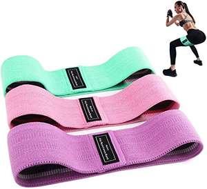 Amazon: Bandas Elasticas de Fitness para Yoga, Pilates (Set de 3)