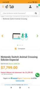 Doto: Switch Animal Crossing ($1949 de cashback con Undostres)