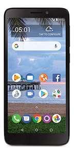 Amazon: Tracfone TCL A1 4G LTE Prepago Smartphone - Negro 16GB - CDMA (renovado)