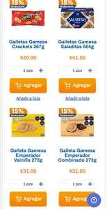 Chedraui: 15% de descuento en Galletas Gamesa seleccionadas