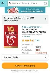 """Amazon Kindle: Libro """"10 Claves para administrar tu tiempo"""""""