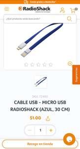 Cable micro USB, Radioshack