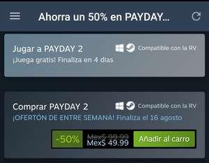 Steam: PAYDAY 2 8vo aniversario y semana gratis