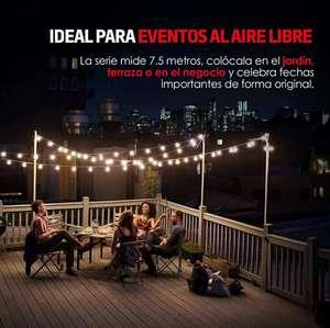 Amazon: Redlemon Serie de Luces para Exterior con 25 Focos Vintage de Luz Cálida Resistentes al Agua y Lluvia (7.5 m) Leer Descripción