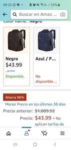 Amazon: UNICORNIO, mochila de viaje 96% de descuento
