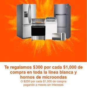 La Comer: $300 de descuento por cada $1000 de compra en toda la línea blanca y hornos de microondas