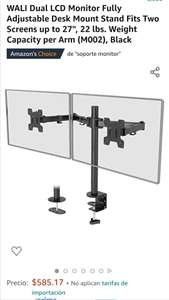 Amazon Soporte dual para monitores