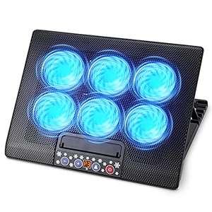 Amazon: TECHVIDA Enfriador para Laptop de Juegos, Seis Ventiladores 1200rpm