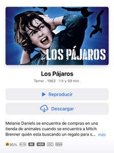 iTunes: Los Pájaros 4K