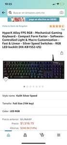 Amazon: HyperX Alloy FPS RGB - Mechanical Gaming Keyboard