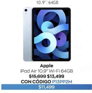 """Costco: Apple iPad Air 10.9"""" 64GB Azul Cielo + Hasta 18 MSI"""