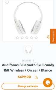RadioShackAudífonos Bluetooth Skullcandy Riff Wireless / On ear / Blanco