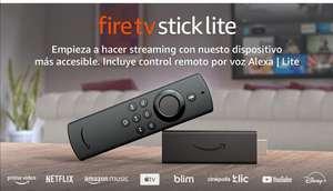 Amazon: Fire TV Stick Lite con control remoto por voz Alexa   Lite   Dispositivo de streaming HD   edición 2020