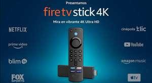 Amazon: Fire TV Stick 4K con control remoto por voz Alexa (incluye control de TV) y Dolby Vision