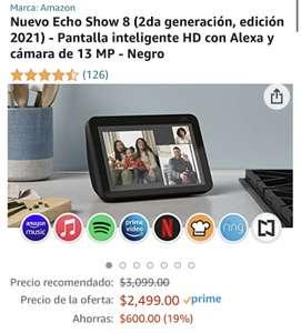 Amazon: Nuevo Echo Show 8 (2da generación edición 2021)