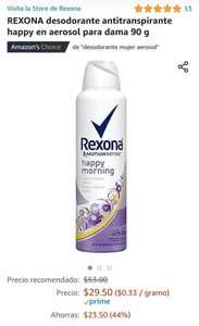 Amazon REXONA desodorante antitranspirante happy en aerosol para dama 90 g