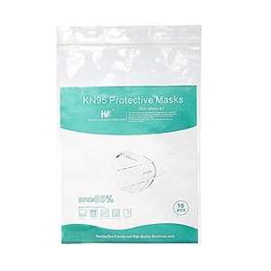Amazon: Cangnan Hengwei Labels CO Ltd - Cubrebocas KN95 Color Blanco, 10 Piezas - No reutilizables.