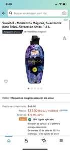 Amazon: Suavitel - Momentos Mágicos, Suavizante para Telas, Abrazo de Amor, 1.3 L