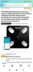 Amazon: Báscula Inteligente Bluetooth