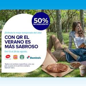 Mercado Pago: 50% en Domino's, Burger King, Starbucks y Vips [Pagando con QR]