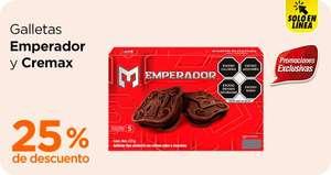 Chedraui: 25% de descuento en Galletas Emperador, Cremax y Chocolatines Gamesa