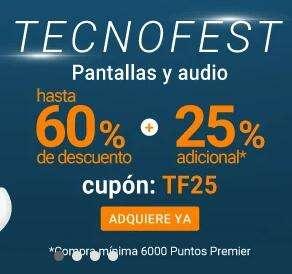 Club Premier Aeroméxico: TECNOFEST 25% adicional con cupón